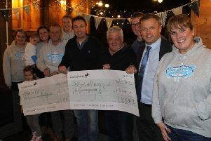 Members of Longridge Unaffiliated Peregrination Society - LUMPS - were delighted to split �10,018 between Miles for Richie (Cancer Research) and the Arthritis Research UK charities following the 2017 20 mile, 20 pub walk.