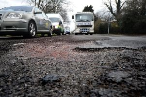 Potholes on Ringway, Preston