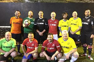 Fit Footballer players with founder Paul Mountford (back row second from left)