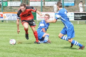 Garstang's Josh Westwood went off with an ankle injury at Nelson