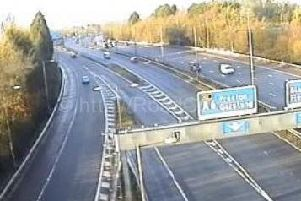 Debris has been spotted on the M55 carriageway near Kirkham.