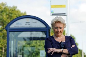 Campaigner Linda Whyborn is urging residents to use the new bus . . . or risk losing it.