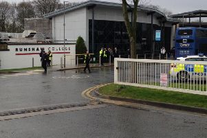 There is a heavy police presence at Runshaw College in Leyland today (Tuesday, March 5).
