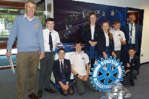Garstang Academy pupils receive their donation of camping stoves