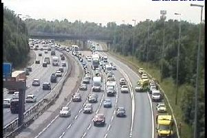 The scene of the collision after traffic was released (Photo Highways England).