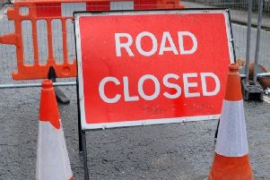 Collapsed road in Stainland