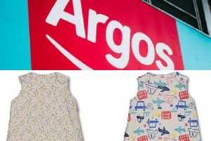 Argos has urgently recalled baby sleep bags for safety reasons.