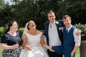Chris and Emma enjoying their big day (photos and video: Your Story Studios).