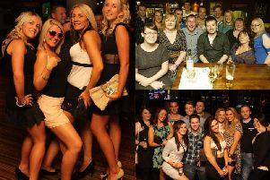 On the town back in 2011 and 2012