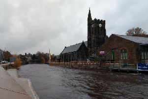 St Michael's Church on the bed of the River Calder