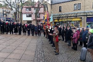 Remembrance Day service in Halifax town centre