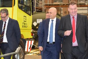 Chancellor of the ExchequerSajid Javid talked to Terberg's bosses about the company's electric-based vehicles