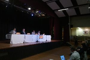 Calder Valley candidates during the Education Hustings: (LtR) Liberal Democrat Javed Bashir, Labour's Josh Fenton-Glynn, and The Liberal Party's Richard Phillips
