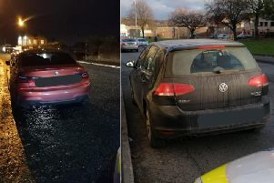 The cars seized by police in Halifax (Pictures West Yorkshire Police RPU)