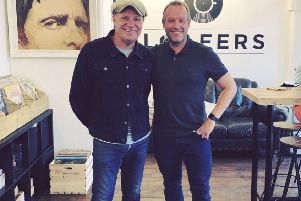 Mark Richardson (right) of Loafers Vinyl and Coffee
