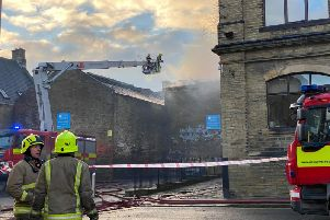 The fire off New Road in Halifax town centre