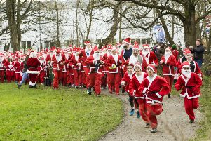 See over 300 Santas descend on Brighouse for Overgate Hospice