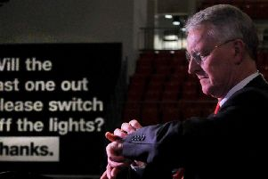 Leeds Central MP Hilary Benn at the First Direct Arena. Pic: Steve Riding