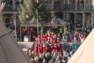 Choirs will perform at the Piece Hall on Christmas Eve.
