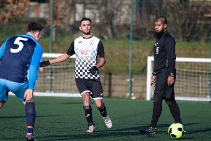 Actions from FC Panda v Feathers, at Calderdale College. Pictured is Tariq Pervez