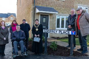 The opening of Godfrey Place.