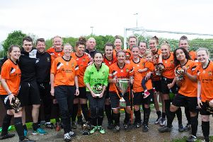 Brighouse celebrate winning the league