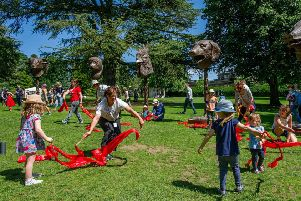 Picture credit Charlotte Graham''Picture Shows YSP Sunday activity, at Yorkshire Sculpture Park, West Bretton, Yorkshire, United Kingdom''PICTURE TAKEN Sunday 16TH July