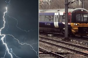 Lightning has caused rail delays