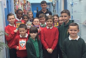 Children's author Tom Palmer visits Grange Farm Primary School in Seacroft