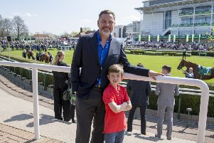 David Walliams and Billy Jenkins, Great British Racing, kids go free.'This image is copyright imagecomms 2018