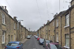 Helen Street at Saltaire where a woman suffered smoke inhalation.