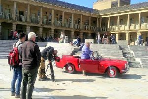 BBC Antiques Road Trip pays a visit to the Piece Hall, Halifax