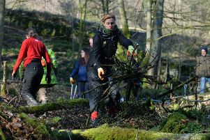 Work starts on a 2.6m project to protect people and wildlife at Hardcastle Crags, West Yorkshire.