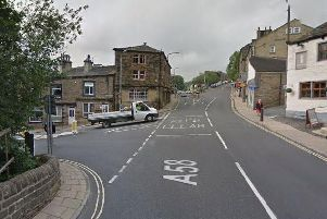 The collision between a woman and a car was at the junction of Elland Road and Halifax Road.