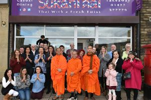 Thai takeaway in Elland is given a blessing by Buddhist monks