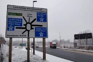 There was a heavy covering of snow on Thursday, and more could come today. PIC: Highways England