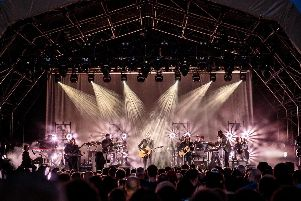 Father John Misty give a performance at The Piece Hall last year