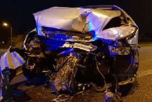 The pictures show the aftermath of the accident PIC: West Yorkshire RPU