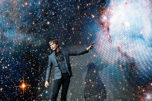 Prof Brian Cox took the audience of First Direct Arena in Leeds on a journey to the stars.