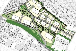 Aerial designs of how the Clifton Business park could look (Picture by Pegasus Designs)