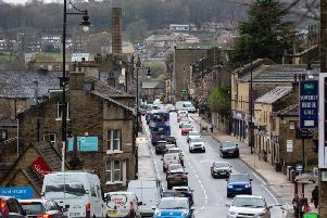 Traffic in Sowerby Bridge