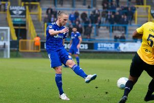 Actions from FC Halifax Town v Dover Athletic at the Shay