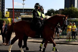West Yorkshire Police search for a new horse to fight crime in Leeds. Photo credit: PA