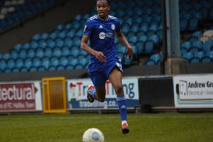 Halifax v Solihull Moors at The Shay. Manny Duku