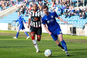FC Halifax Town v Maidenhead, at the Shay. Cameron King
