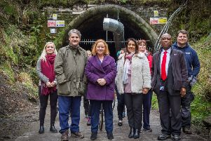 Local MP's visit Queensbury Tunnel. Photo: Four by Three