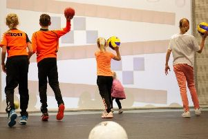 multiBALL enables users to transform wall space into an interactive playground.