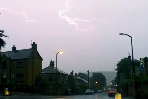 Thunderstorms could hit Calderdale from lunchtime