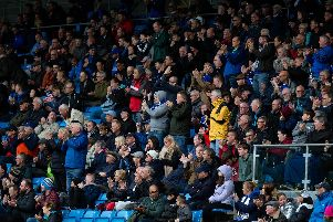 Halifax fans at The Shay