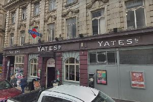 A man was left with a broken leg after a Bank Holiday attack a Yates bar.